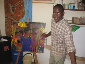 A young student art teacher at Gaiato