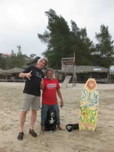 With Oscar, my surf instructor.