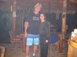 With Julie who runs Balsa Surf Camp with her husband Rasti.