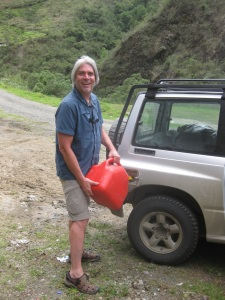 Running out of gas in the Andes mountain? Not when Mark has a spare tank!