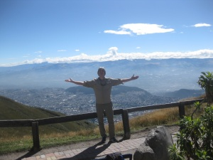 Overlooking Quito, on a volcano