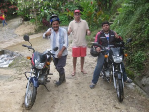 With Louis and our two very good bike drivers.
