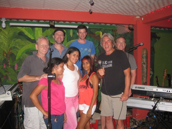 With Smiley's House Band...what a night!